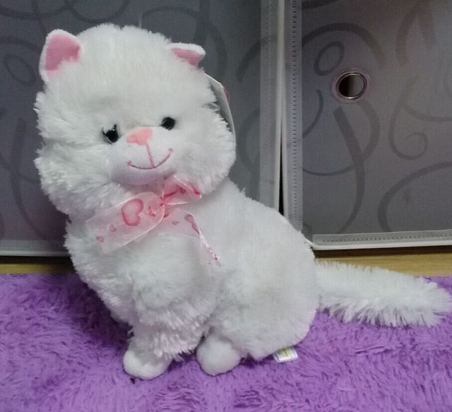 Russian language plush white cat talking singing song doll,electronic pet toys for children kids baby birthday Christmas gift
