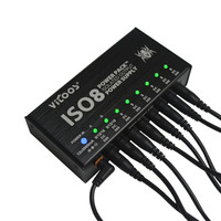 Vitoos ISO8 Isolated Output Power Supply Mute Noise Reduction Portable Guitar Effects Pedals Power Supply With