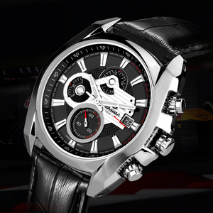 Image 2 - Reloj de lujo para Hombre, Reloj Masculino de pulsera, deportivo, militar, de cuarzo, cronógrafo luminoso