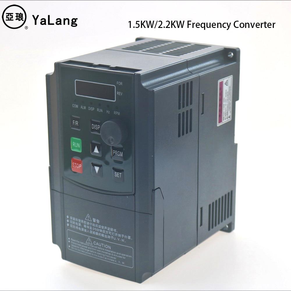 110V 220V 1.5kw 2.2kw monophasé onduleur VFD convertisseur de fréquence Variable fréquence pilote broche contrôle de vitesse