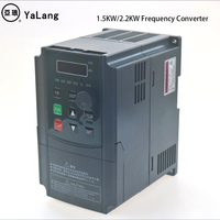 AC 110V 220V 1.5kw 2.2kw Single phase inverter VFD inverter Frequency Converter Variable Frequency Drive Spindle Speed Control