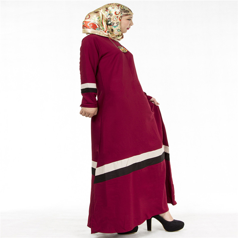 Bubble Tea Women Muslim Long Dress Islamic Abaya Kaftan Dubai Tyrkisk - Nasjonale klær - Bilde 5