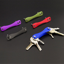 Chain Pocket Housekeeper-Oxide DIY Aluminum EDC Smart Wallets Ring-Collector Key-Organizer