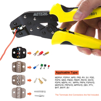 4 In 1 Wire Crimper Tools Kit Multitool Engineering Ratchet Terminal Crimping Plier Wire Crimper + Screwdriver +end Terminals