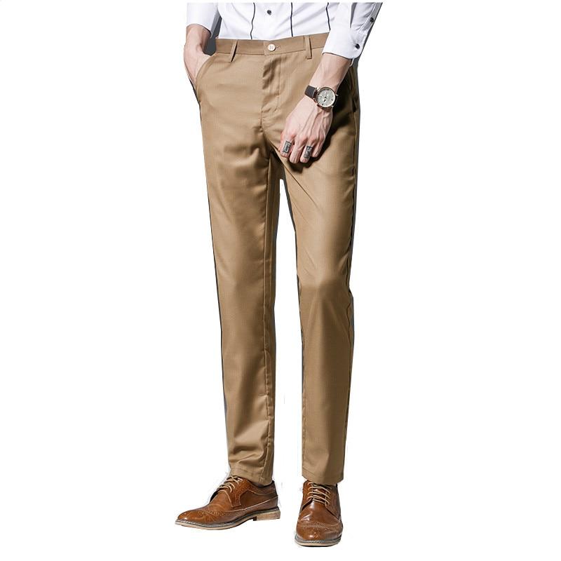 2017 Neue Mode Für Männer Kleid Hosen Für Hochzeit Formale Hosen Männer Anzug Männer Dünne Business-hose Elastizität Männer Anzug Hosen