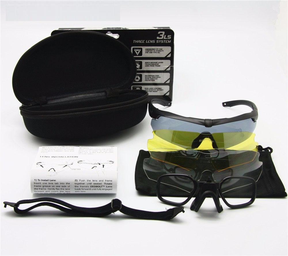 Prix pour Exellent Qualité Tactique Lunettes Polarisées Lunettes Armée Lunettes de Tir Lunettes Pour Hommes Sport lunettes de Soleil Pour Wargame 3 Lentille