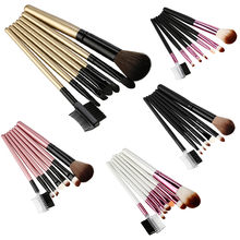 OutTop Make-Up Brushes 7pcs Brush Wood Makeup Brush EyeShadow Cosmetics Blending Brushes Set Kit Tool 2019 JAN22(China)