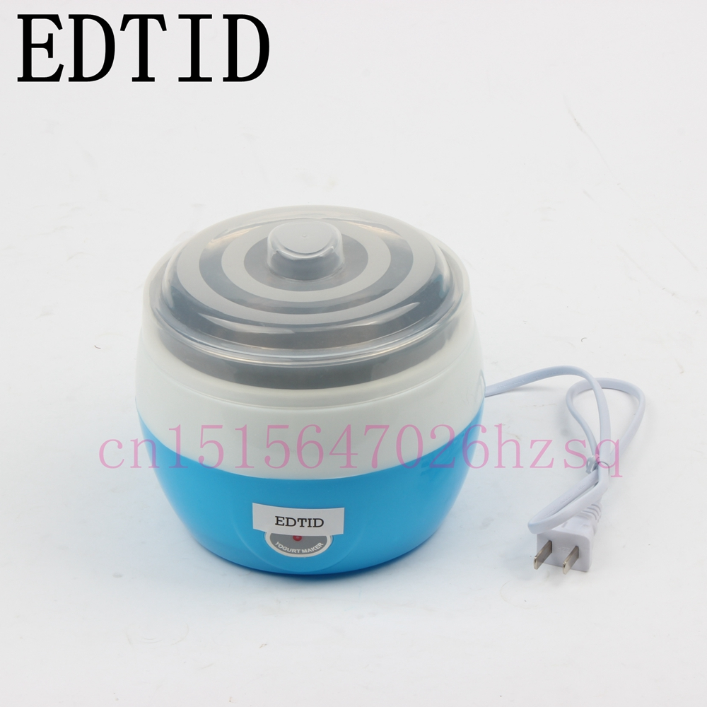 EDTID Yogurt maker 800ml stainless steel liner homemade Food fermentation machine food grade fast food leisure fast food equipment stainless steel gas fryer 3l spanish churro maker machine