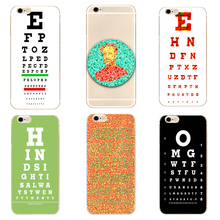 Vision test chart Hard New Clear phone case cover for Samsung s8 s9plus S6 S7Edge S5 for iPhone 7 6s 8plus 5s 5c 4 X XS XR XSMAX customized diy phone case printed hard clear cover case for apple iphone x xs 8 8plus 7 6splus se 5 for samsung s8 s8plus s7 s6