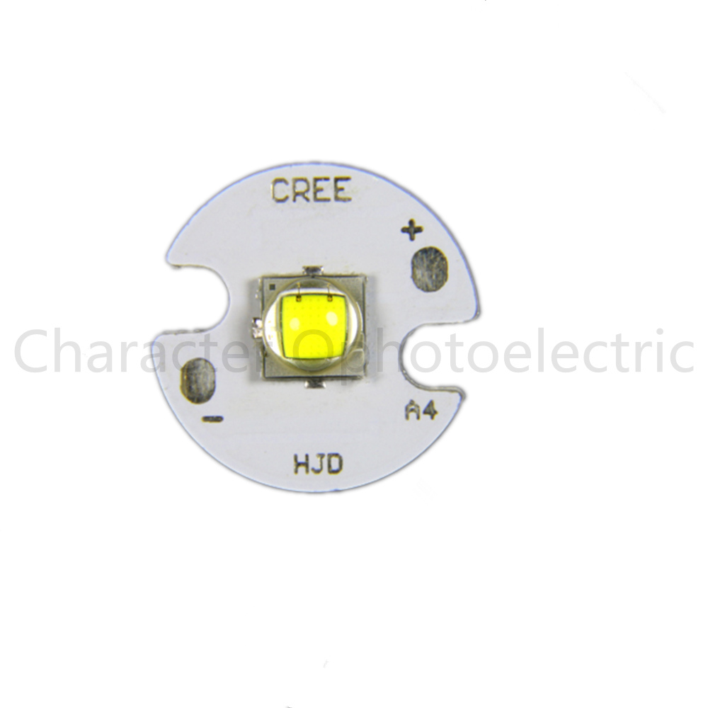 Купить с кэшбэком 1pcs 10W CREE XM-L2 XML2 L2 Warm White 3000k ~ 3500k Cool White 6000k ~6500k LED Light Lamp Chip Bulb + 20mm  PCB Base