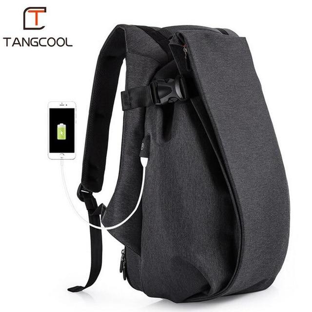Tangcool Homens Mochila Faculdade de Moda Laptop de Carregamento USB À Prova D' Água Sacos De Escola Para Adolescentes Mochila de Viagem de Grande Capacidade