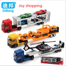 Children 's educational Toys wholesale alloy Car model toy Car Toy trailer with aircraft