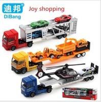 Kinderen educatief toys groothandel legering model auto speelgoed auto speelgoed trailer met vliegtuigen