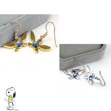 New Trendy  Butterfly Earrings Legend of Zelda Gold /SILVER Plated crystal Jewelry Earrings For Women Accessories