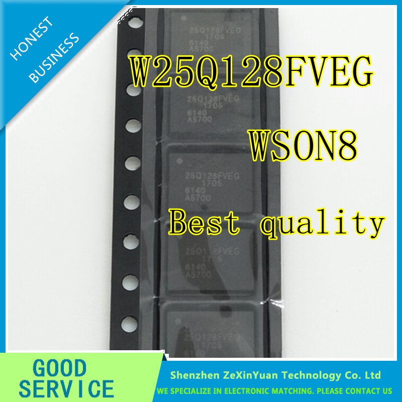 5PCS/LOT W25Q128FVEIG W25Q128FVEG 25Q128FVEG WSON8