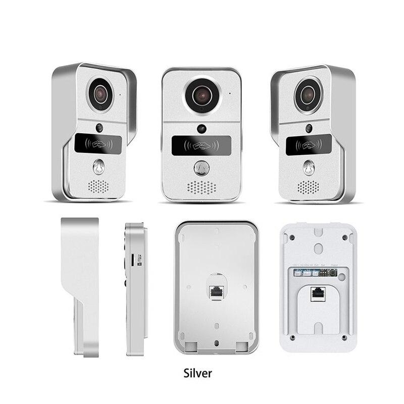 KONX 720 WiFi IP telefone Video Da Porta intercomunicador Campainha de Casa Inteligente IOS Unlock Campainha Espectador Olho Mágico Da Câmera Sem Fio 220 v android