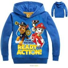 2016 Children Hoodie Long Sleeved T-Shirt Baby Boys Girls Pwa patro T Shirt Kids Student Cotton Tops Sports Casual Tees Sweater