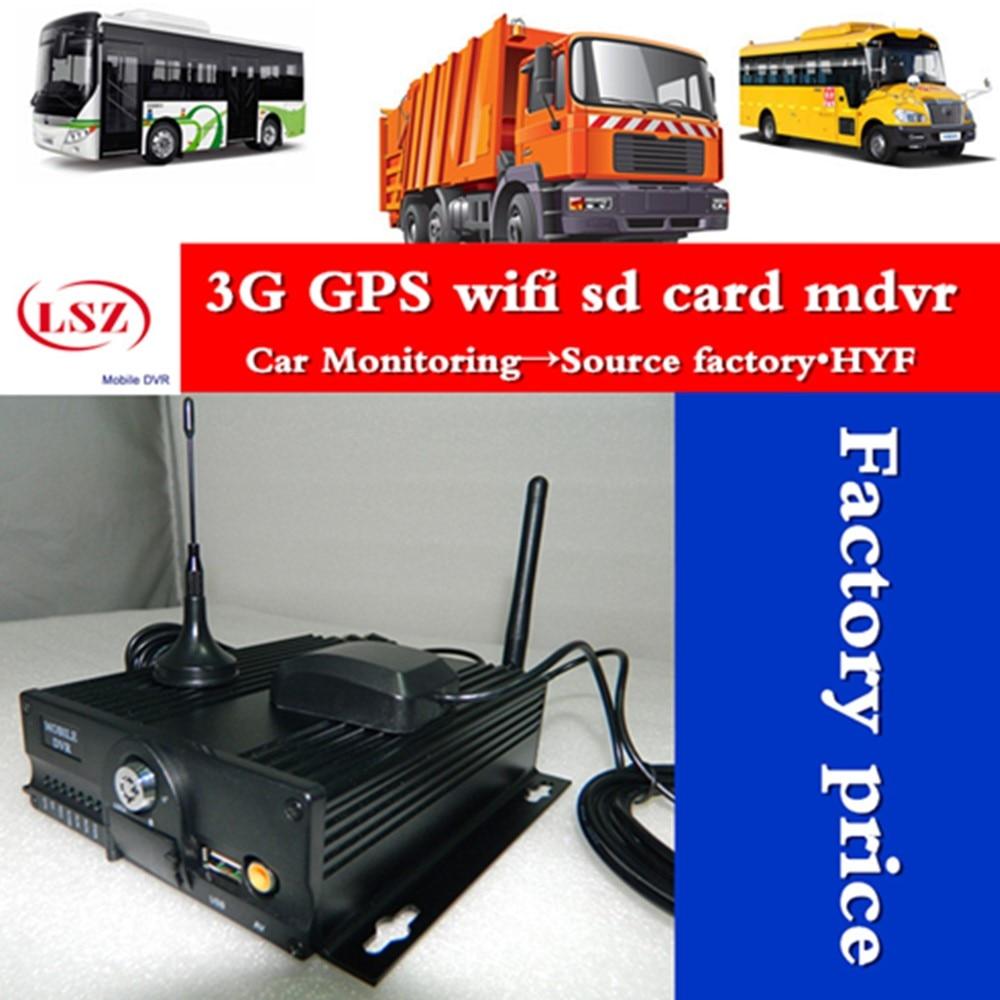 3g mdvr gps mobile dvr wifi à distance et positionnement et surveillance vidéo camion/bus hd surveillance vidéo usine