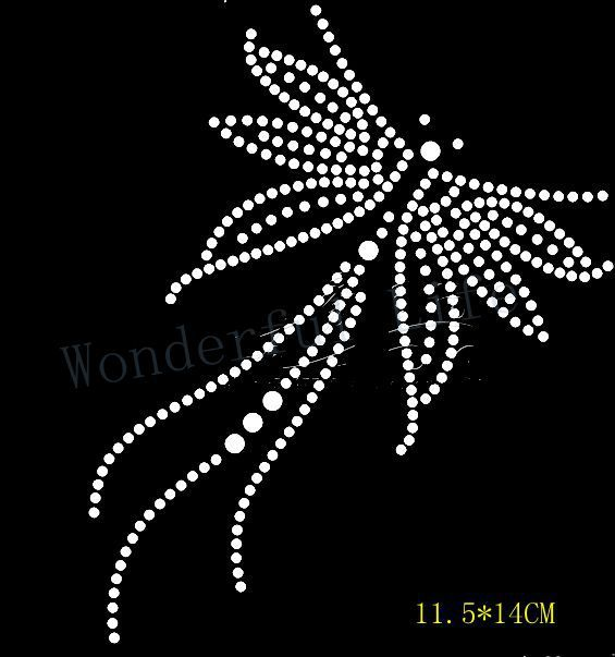 02bbf208a188 Free shipping nice little flying image hotfix rhinestones transfer design  motif bling for clothing