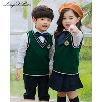 Kindergarten clothing spring and autumn loaded England College wind school uniform boys and girls sweater set primary school uni