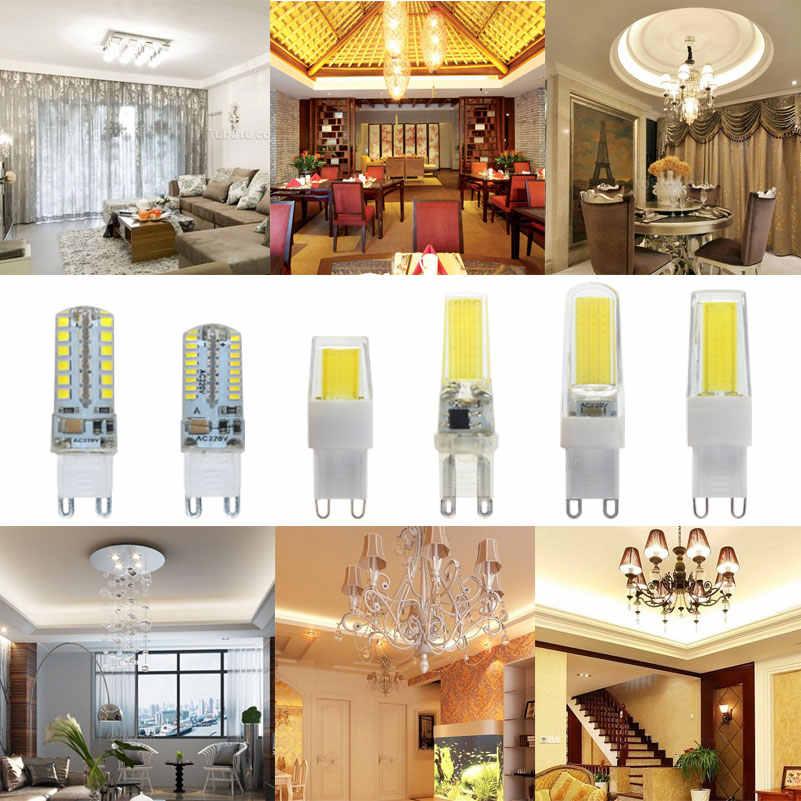 Mini cob G9 lampe à LED lumière 5 W 6 W 7 W 8 W 9 W 10 W 220 V G9 LED ampoule Dimmable SMD2835 LED G9 projecteur pour lustre en cristal remplacer