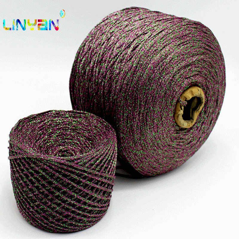 300g/ lot Silk cotton +gold and silver silk knitting crochet yarn to knit thread sewing for knitting knit Fashion ribbon t6