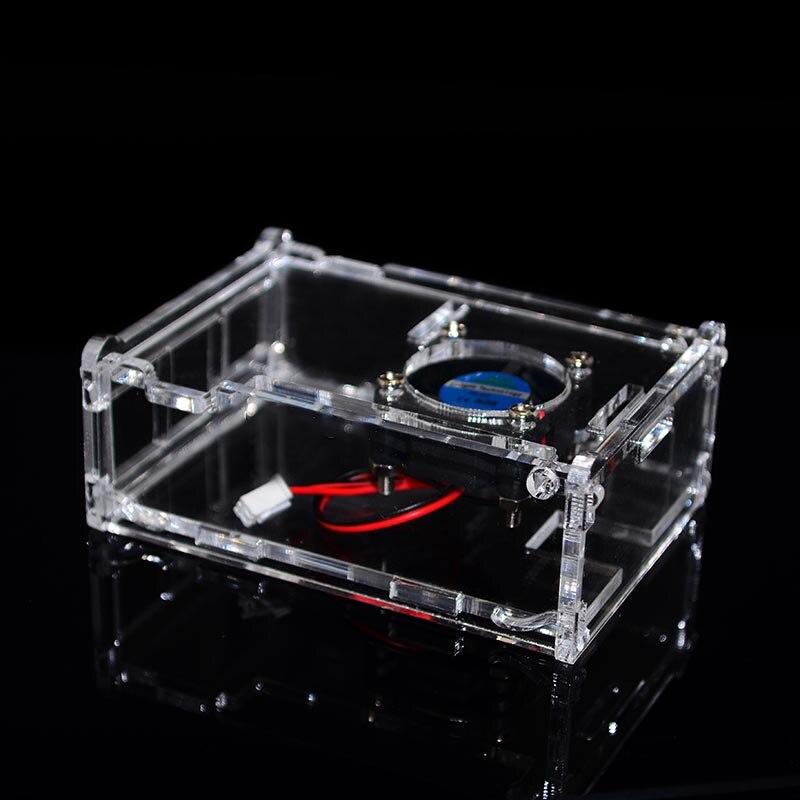 For Raspberry Pi 3 Model B Plus Acrylic Case Box Cooling Fan Heat Sink For Raspberry PI 2B PI3 Model B+ 3B Enclosure Shell