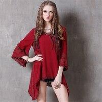 Brand Summer Dresses 2017 Womens Sexy Tassel Irregular Mini Dresses Women Summer National Style Cotton Linen