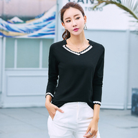 V Neck Autum Blouse Long Sleeve Shirt Women Blouses Cotton Ladies Tops Camisas Femininas Manga Longa