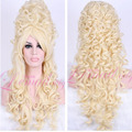 USA Ship Gorgeous Marie Antoinette Long Wavy Baroque Blonde Cosplay Wig zy34A