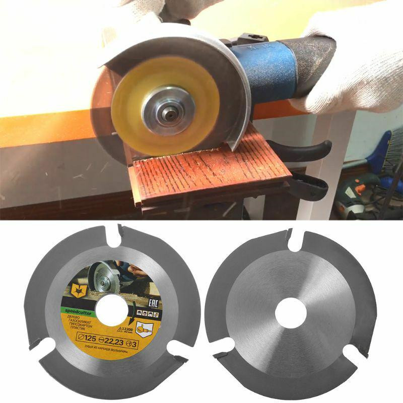 Multifunctional 125mm 3T Circular Saw Blade Wood Carving Disc Multitool Grinder Carbide Tipped