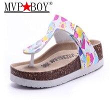 MVP BOY Fashion Women Slippers Flip Flops Summer Beach Cork Shoes Slides Girls Flats Sandals Casual Shoes Mixed Colors Plus Size