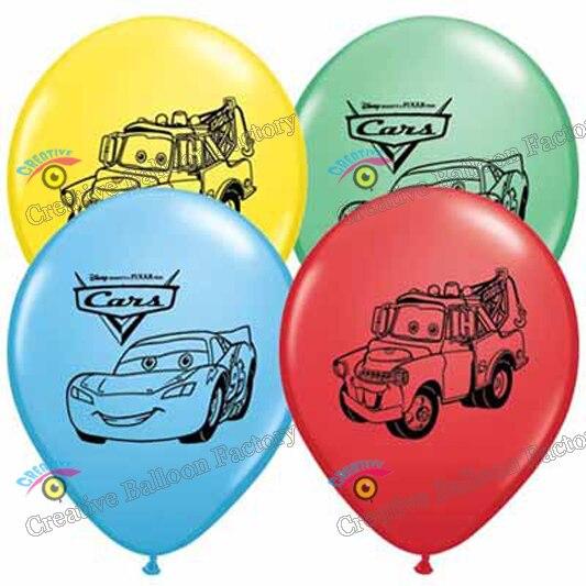 12pcs/lot cartoon car balloons latex balloons baby showr decorations birthday party decorations kids toys balons 11
