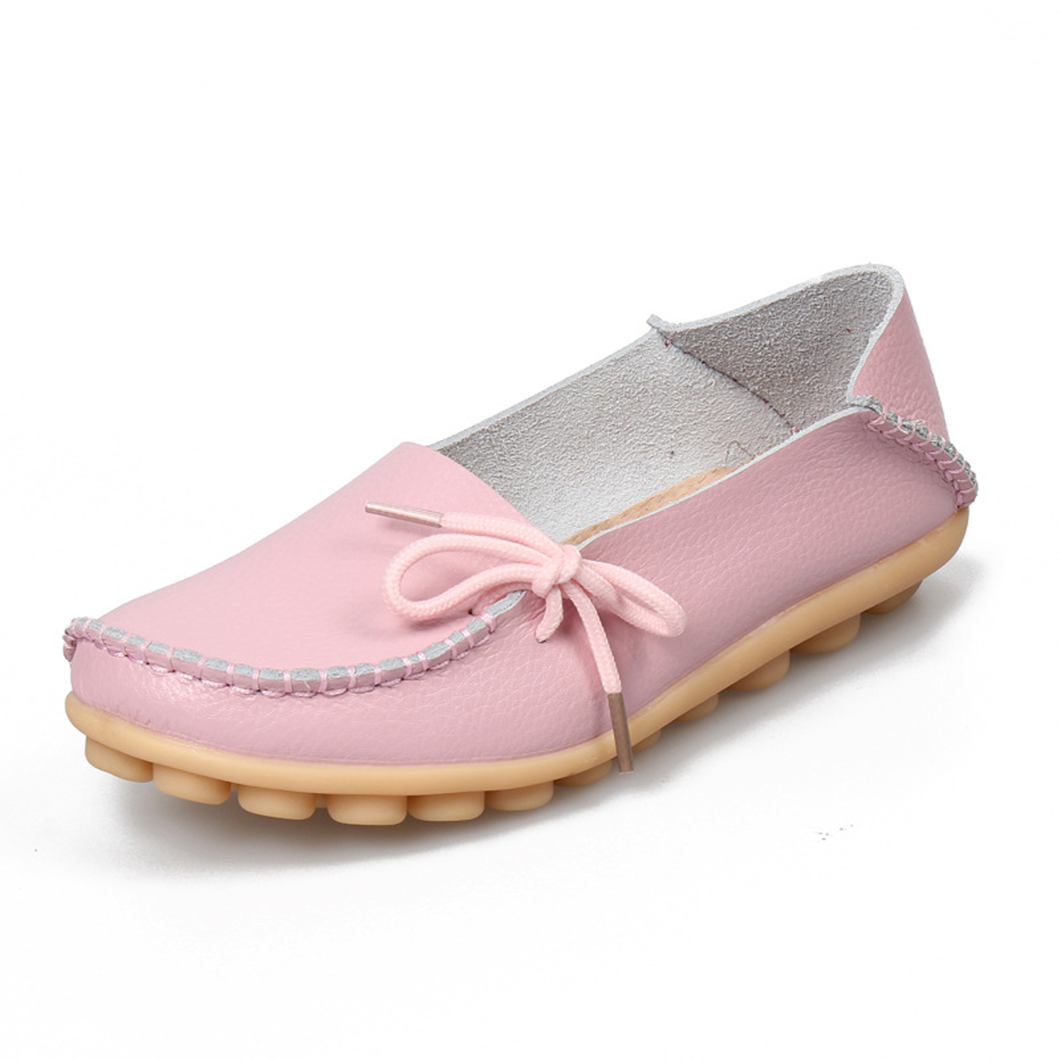Gaorui 2017 Srping New PU Leather Women Flats Moccasins Loafers Wild  Driving women Casual Shoes Leisure Concise Flat shoes 7713ca970b5c