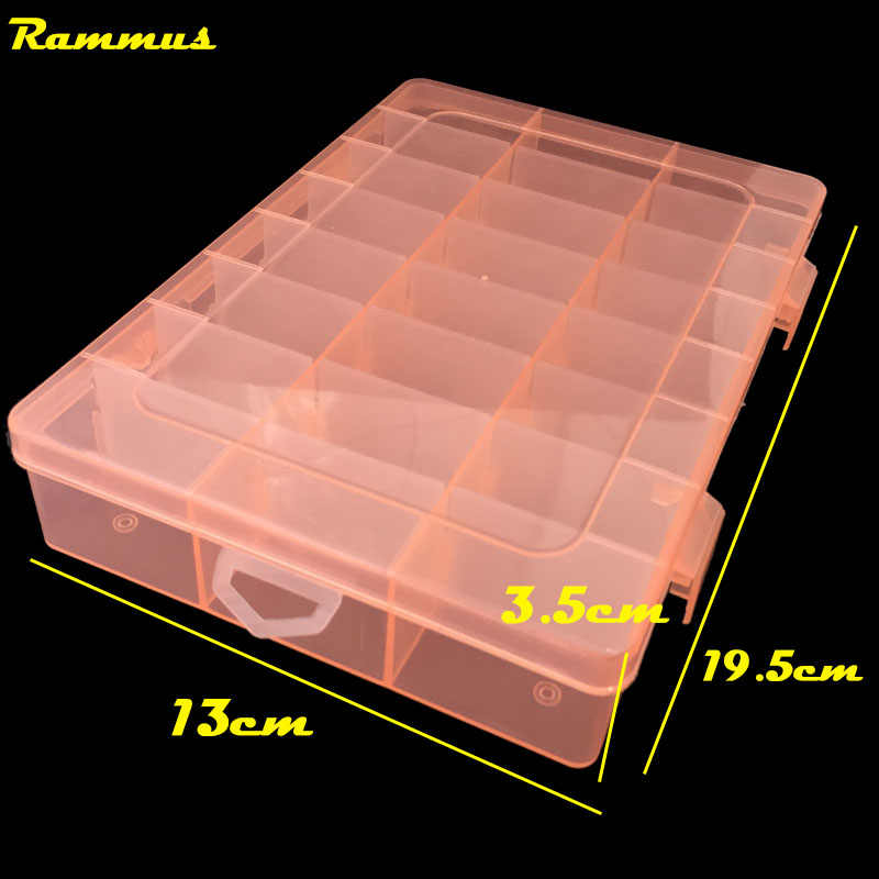 24 Grids DIY Tools Packaging Box Portable Electronic Components Screw Removable Storage Screw Jewelry Tool Case Colorful