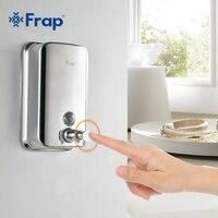 Frap Wall Mounted Shampoo Soap Dispenser Chrome Finish Square Liquid Soap Bottle Bathroom Accessories 500ml F401