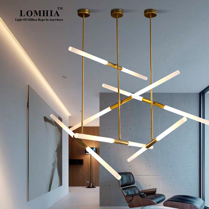 New Nordic Modern Led Tube Pendant Lamp Light Bar Ac90