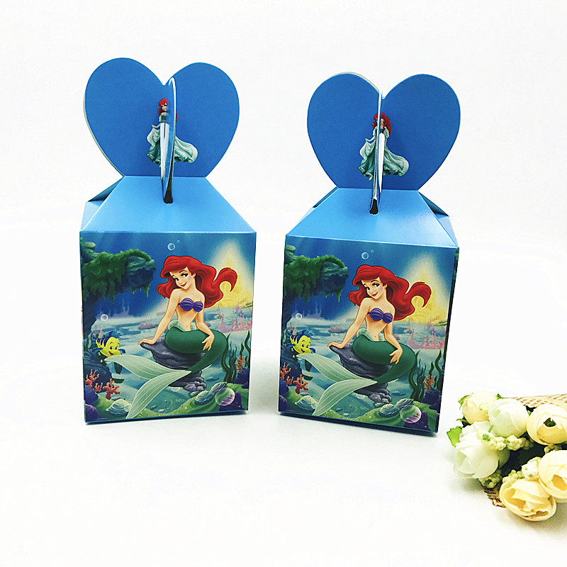 6pcs/set Mermaid Candy Box Party Supplies Birthday Party Decorations Kids Mermaid Birthday Mermaid Birthday Favors