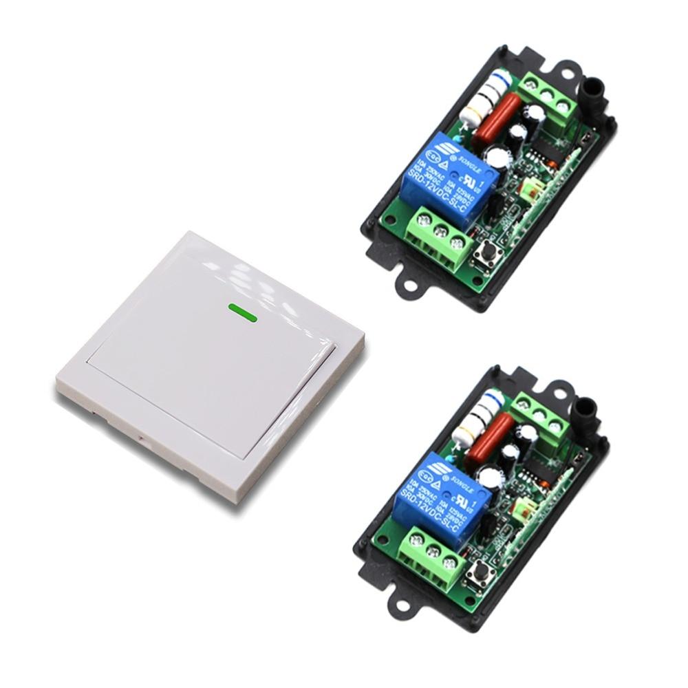 New Remote Control Switch AC110V 220V 2* Receiver Wall Transmitter Wireless Power Switch 315/433 Radio Controlled Switch Relay ac 220v rf wireless remote control switch 2 button wall transmitter receiver