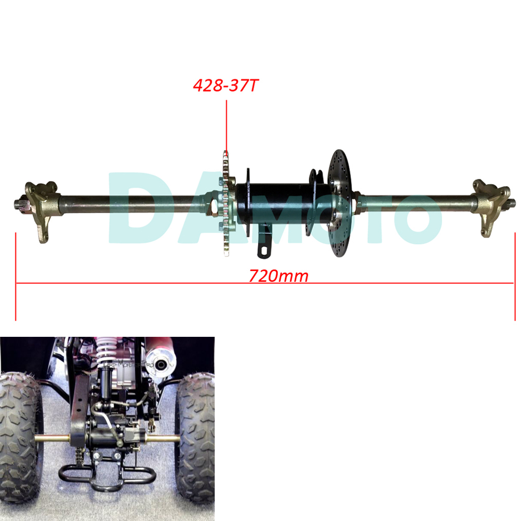 Rear Axle Complete Assembly With Carrier Hub Brake Disc Chain Sporcket 110cc 150cc 200cc Atv Quad Go Karts Bike Atv,rv,boat & Other Vehicle Atv Parts & Accessories