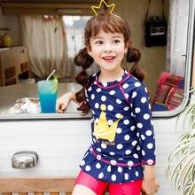 Vivo-biniya/с длинными рукавами для девочек от 3 до 10 лет, UPF 50+ защита от солнца УФ рубашка для плавания трусы шапочка, детская одежда для плавания