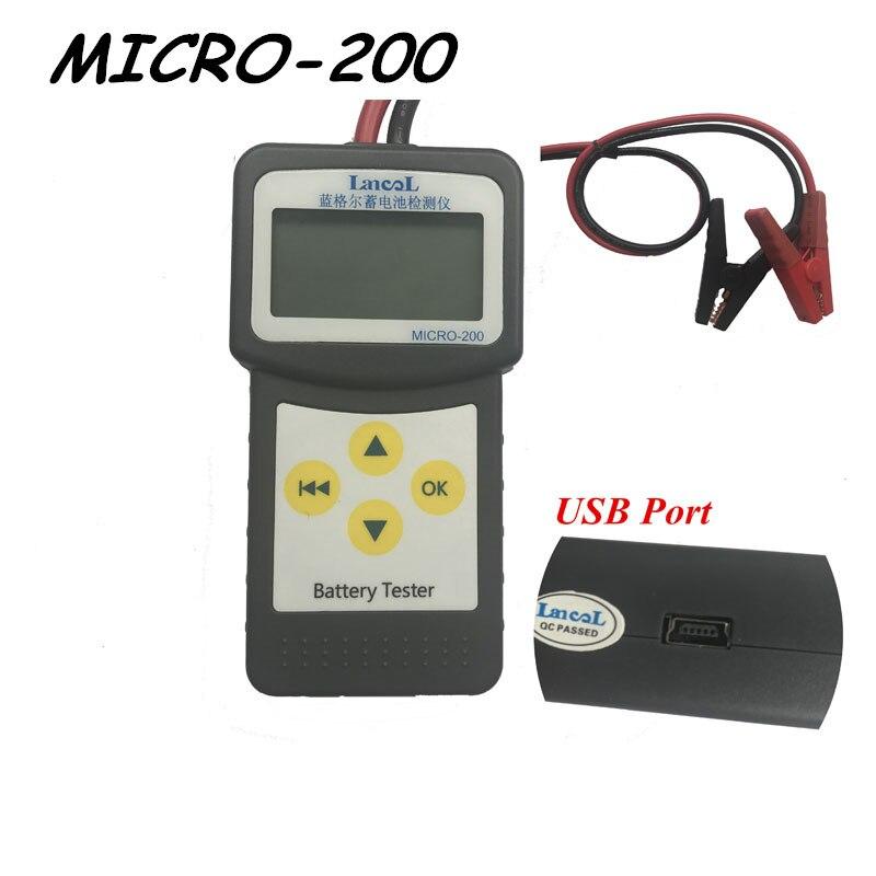 Prix pour LANCOL Micro-200 Voiture Testeur de Batterie 12 V Numérique Analyseur 2000CCA avec Multi-Langue De Voiture Outil De Diagnostic avec USB pour impression