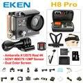 EKEN H8PRO A12 4 K 30fps Ambarella Câmera de Ação Wi-fi controle remoto/1080 P 120fps h8 Tela Dupla à prova d' água pro câmera