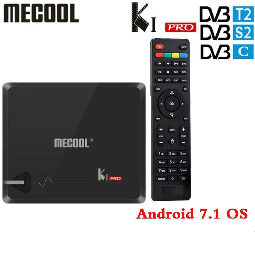 KI PRO Amlogic S905D Android 7,1 híbrido caja de TV DVB-T2/S2/C/Quad Core 64 bit 2G 16G K1 PRO Set Top Box apoyo cline xusb