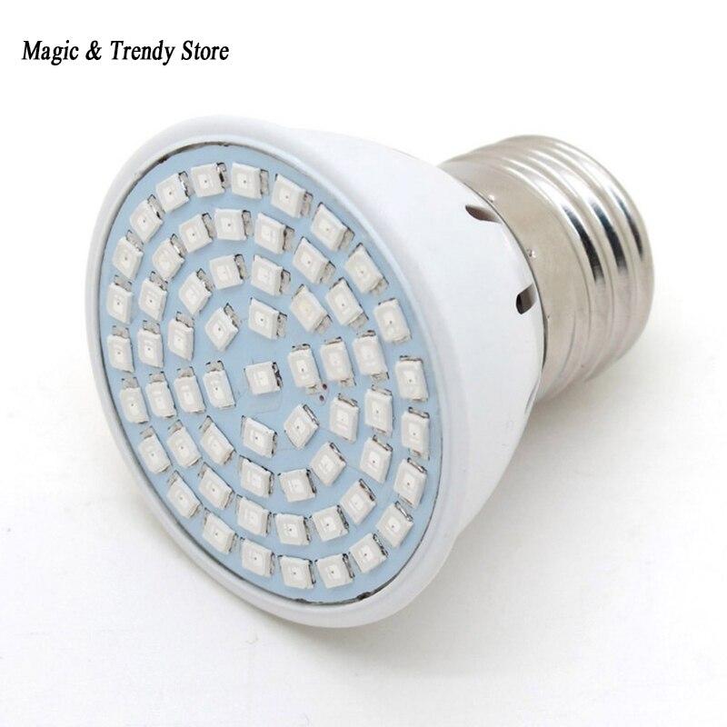 LED Grow E27 12W Bulb Light AC 220V Full Spectrum 60SMD Indoor Plants Lamp For Flower