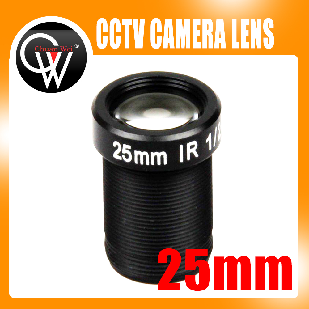 5.0Megapixel HD 25mm IR CCTV Lens 1/2 For HD IP AHD CCTV Camera Lens F2.4 M12 Mount Fixed Iris Long Viewing Distance Upto 50m m12 3 7mm cctv lens for cctv security camera f2 0 fixed iris m12x0 5 mount