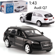 CAIPO 1:43 Audi Q7 Lichtmetalen pull back voertuig model Diecast Metaal Model Auto Voor Jongen Speelgoed Collection Vriend Kinderen gift