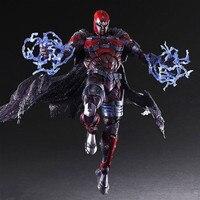 Play Arts Kai Magneto Figura Erik Lehnsher Max Eisenhardt X hombres X-MEN Juego Arte KAI PVC Figura de Acción de 26 cm Muñeca juguete