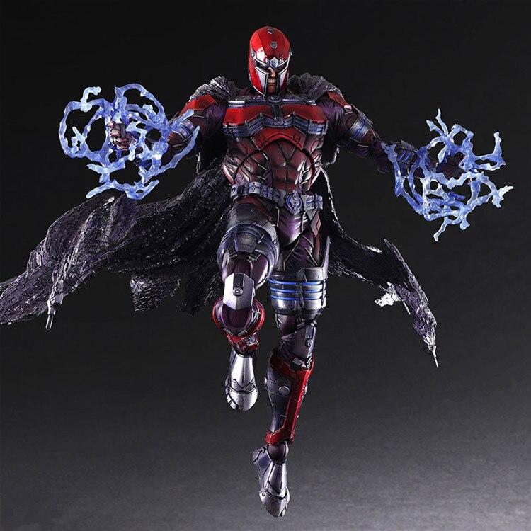 Play Arts Kai Magneto Figure Erik Lehnsher Max Eisenhardt X Men X-MEN Play Art KAI PVC Action Figure 26cm Doll Toy