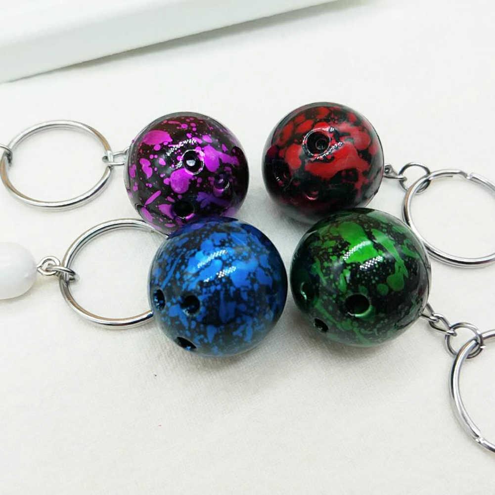 Two-piece Sacos de Bola de Boliche Bolsa Pingente Keychain Anel Chave do Carro Ornamento de Suspensão Titular